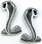 'Cobra' Snake Fender Emblems (Pair)