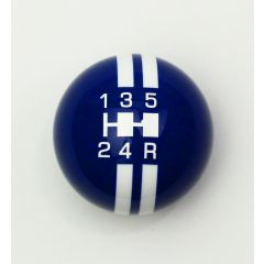Blue with White Speed Stripes