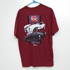 "Backdraft ""Race"" Shirt in Burgandy"